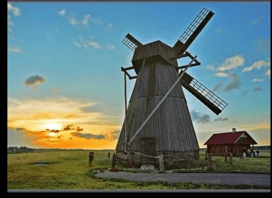 деревянная мельница