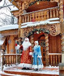 Дед Мороз со Снегурочкой в Беловежской резиденции