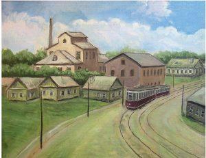 Рисунок синагоги на ул. Даумана