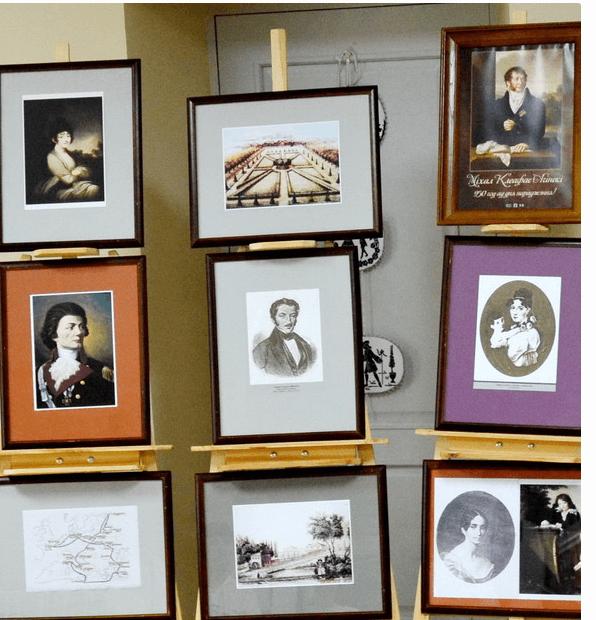 Портретная галерея музея в Залесье. Среди портретов есть представители рода Огинских.