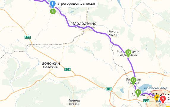 Экскурсионный маршрут в Залесье. По старой Виленской дороге 150 км.