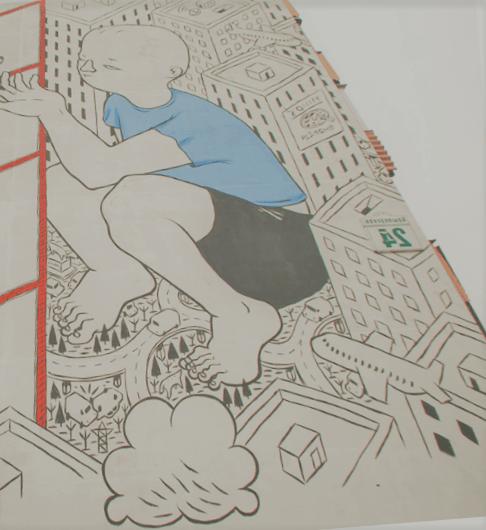 Работа итальянского художника Millo сюрреалистичный мальчик, или слишком большой ребенок. Вошел в список лучших в мире по итогам 2015 года. ул. Брилевская, 24