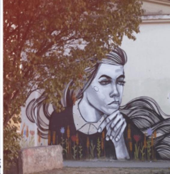 Современные городские муралы на ул. Чкалова,6, автор Юлисис Невмер